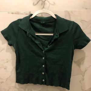 Brandy Melville green Caroline Top